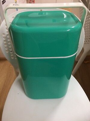 Vintage 1970's Decor #594 Green BYO Wine Cooler/Carrier fits 4 bottles Aust Made