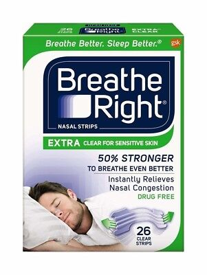Breathe Right Extra Strong Nasal Strips Clear One Size fits all - 26 Strips