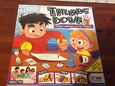 New No THUMBS DOWN Complete Challenge Game family Fun Xmas Gift Draw Create Wrap