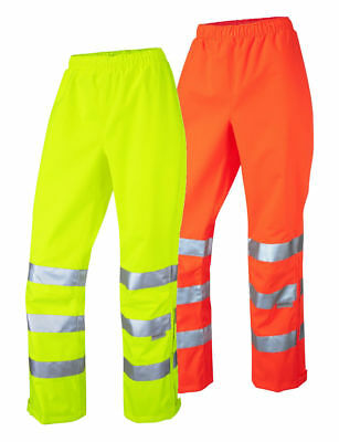 Leo Workwear LL02 Hannaford Ladies Hi Vis Over Trousers Waterproof Breathable