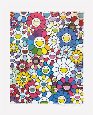 "Takashi Murakami  ""Flowers on the Island Closest to Heaven"" Ed.100 Silkscreen"