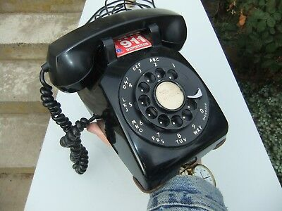 Vntg Black Bell System Rotary Dial Desk Telephone by Western Electric USA