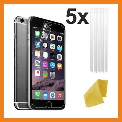 5 Clear Plastic Screen Protector for Apple iPhone 6/ 6S/ 7/ 8 / X / XS & XS MAX