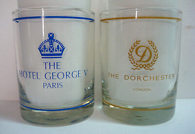 Dorchester George V Hotel - London and Paris - Old Fashioned Glasses - Set of 2
