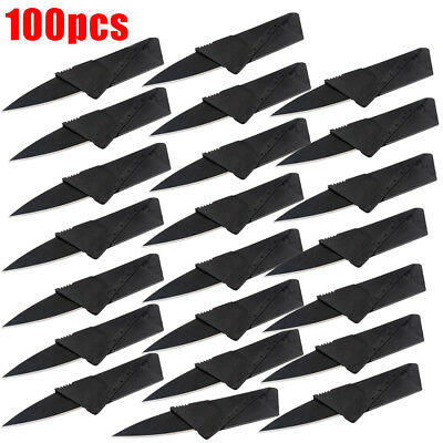 Lot Portable Credit Card Knives Folding Wallet Thin Pocket Survival Micro Knife