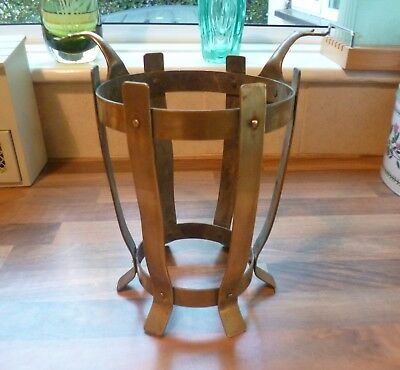 Victorian Antique Brass Fireside Stand-Arts & Crafts-Aesthetic