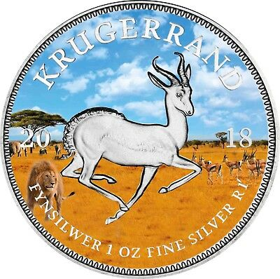 Special Krugerrand 2018 South Africa 1 Rand Silver Coin Pangaea Edition