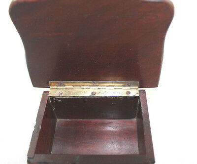 French Antique Vervelle Napoleon III Burl and Walnut Match Box--Guy Gift