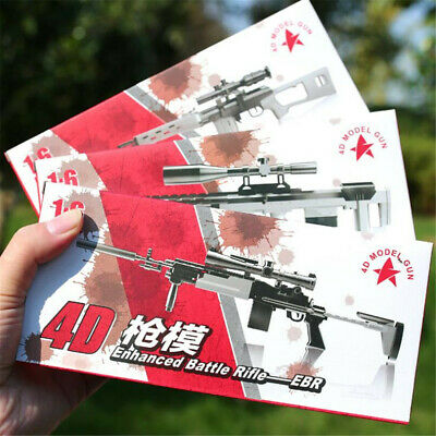 1/6 4D Assembled Sniping Rifle Firearms Series Plastic Model Kit DIY Weapon Gun