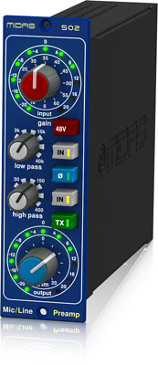Midas MICROPHONE PREAMPLIFIER 502 -New -Free US Shipping prosounduniverse.