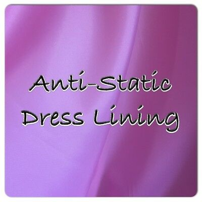 ANTI-STATIC DRESS LINING -  Dress, Jacket, Skirt lining - 150cm Wide- Polyester