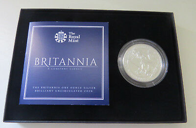 Britannia 2016 UK 1oz Silver Brilliant Uncirculated Coin Boxed With COA BUNC