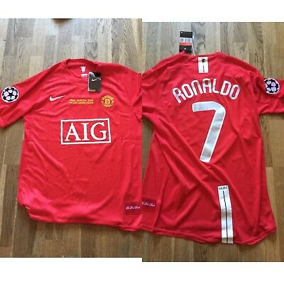a101dd87cb1 Manchester United Champions League 2008 Final Match Shirt RONALDO. NEW WITH  TAGS