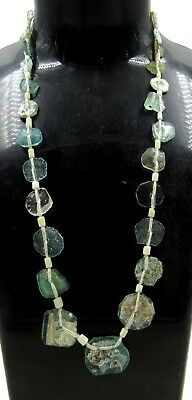Authentic Ancient Roman Era Glass Beaded Necklace - H594