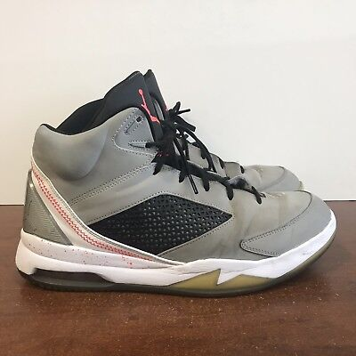 best sneakers 73b68 e3e96 Nike Air Jordan Flight Remix Wolf Grey Infrared 23 Retro 679680-060 Size 12