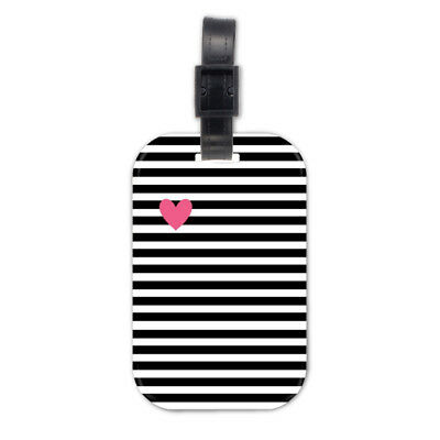 Heat And Stripes Wood Travel Luggage Tag Bag Tags Accessories