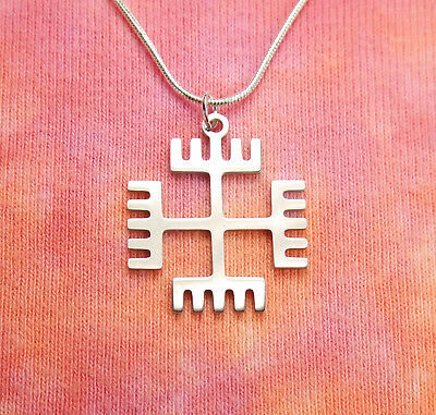 Rece Boga Necklace, Hands of God Slavic Native Solar Cross Pendant Rodnovery