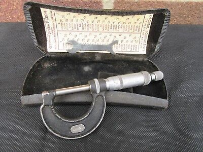 "Micrometer Moore & Wright 965 Vtg 0-1"" External Imperial"