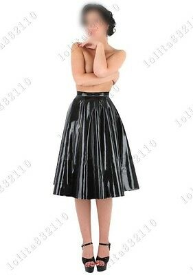 1211 Latex Rubber Gummi Pleated Skirts dress suit customized catsuit 0.4mm sexy