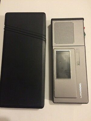 Vintage GRUNDIG DH 2081 voice recorder/dictaphone with cassette/battery