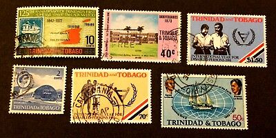 6 nice used stamps Trinidad & Tobago