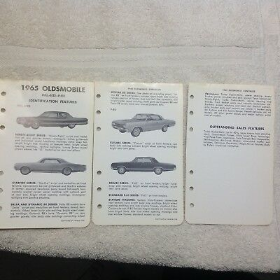 Vintage 1965 Oldsmobile 98/Starfire/88/Cutlass/Jetstar and WagonsLiterature