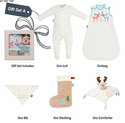 Grobag My First Christmas 5 pc Gift Set Stocking Gro suit Bib Comforter new baby