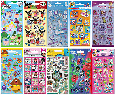 Childrens Fun Foiled Re-usable Character Reward Stickers Party Loot Bag Fillers