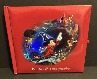Walt Disney World Parks Photo & Autograph Book Red