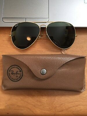 1473dae68a2 Vintage Bausch And Lomb Ray Ban Aviator Sunglasses With Case Original BL  Lenses