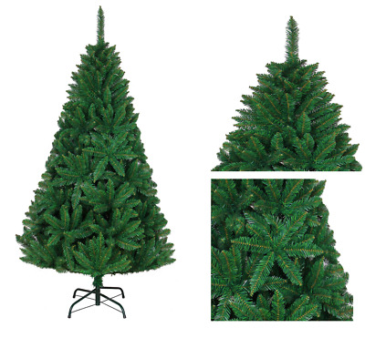 Deluxe Bushy Green Artificial Christmas Tree Xmas Home Decorations Metal Stand