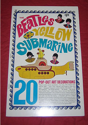 The BEATLES YELLOW SUBMARINE Pop Out Book 1968 ORIGINAL MINT CONDITION