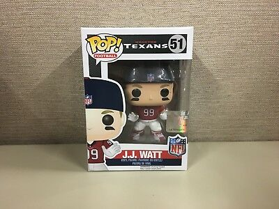 Funko Pop! Football: NFL - Houston Texans J.J. Watt # 51 Red Jersey New In Box