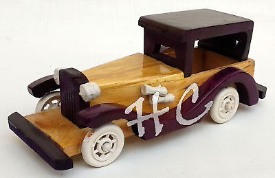 Vintage Wooden Handmade Antique Classical Car Toy Handmade Old Model Vehicle