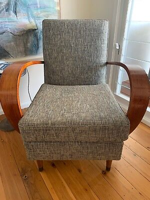 Vintage Lounge Chair Retro 1960's Newly Upholstered