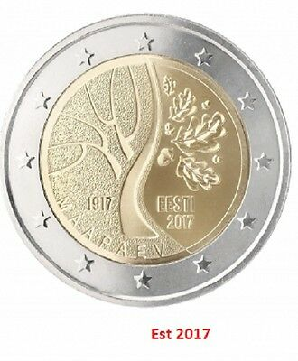 IN STOCK - ESTONIA 2 Euro 2017 coin - Independence - UNC quality