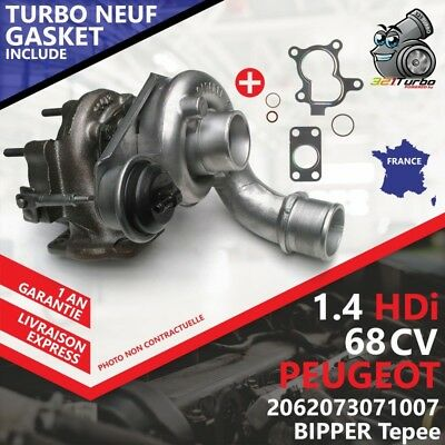 Turbo NEUF PEUGEOT 207 1.4 HDi -50 Kw 68 Cv AVEC JOINT GASKET 54359700009 KP35