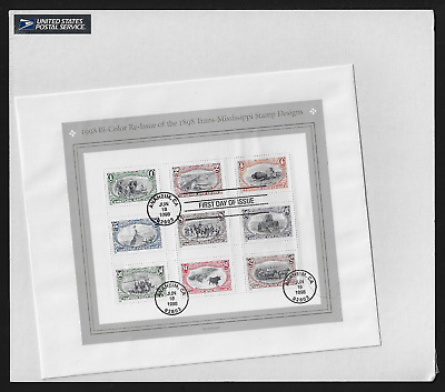 USA — First Day Cover with Full Sheet — 1998, Trans-Mississippi Stamps #3209
