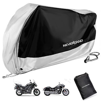 2XL Silver Waterproof Outdoor Motorcycle Cruise Scooter Motor Bike Rain Cover