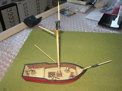 28MM PAINTED SHIP - pirates, wargames, blood and plunder