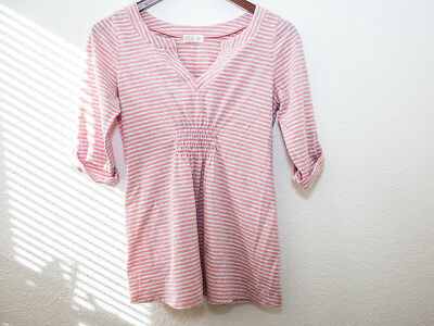 Old Navy Pink Gray Stripes Maternity T Shirt Size XS