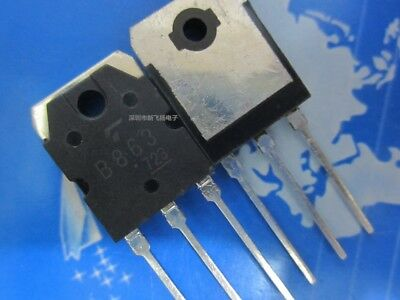 5PC 2SB863 in-line TO-3P B863 amplifier pair tube #