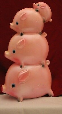 "Vintage Stacked Piggy bank pink ceramic ""For My Vacation"" Ceramaster Ceramics?"