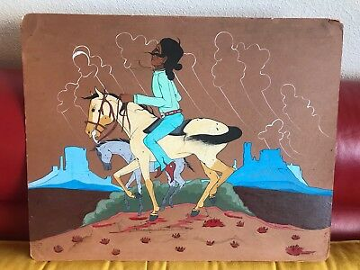 "Original Native American Painting 16"" x 20"""