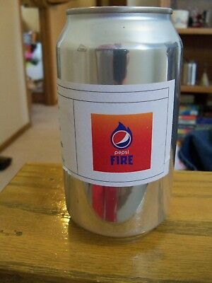 Rare Pepsi Fire Promotional 12oz Soda Can~Best by 2017~Unopened