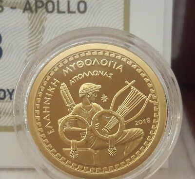 Best price 🅰 NEW Gold Proof 🅰 Greece 100 Euro 2018 God APOLLO 🅰 GRECIA GRECE