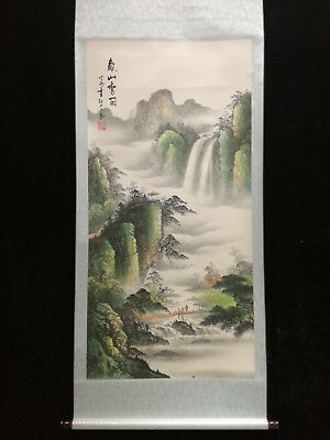 Excellent Chinese 100% Hand Painting & Scroll Landscape By Zhang Daqian #33