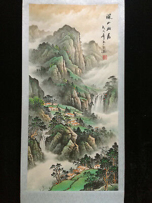 Excellent Chinese 100% Hand Painting & Scroll Landscape By Zhang Daqian #36