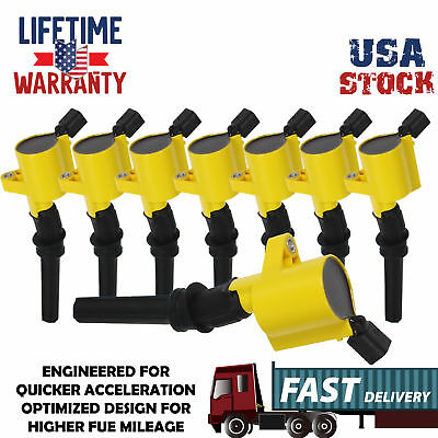 Ignition Coils Pack Upgrade For Ford F150 2000 2001 2002-2004 4.6/5.4Lv8 TRITON
