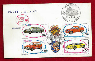 1985 Italy FDC With Automobile Stamps